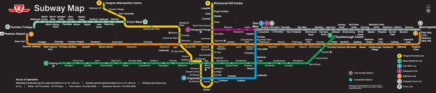 future ttc map