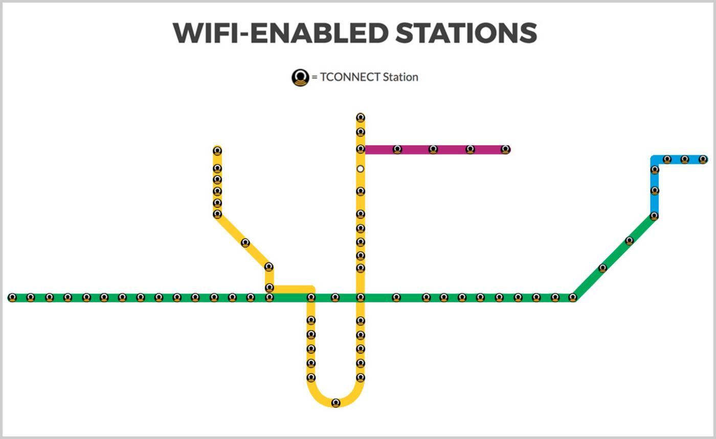 ttc wifi map
