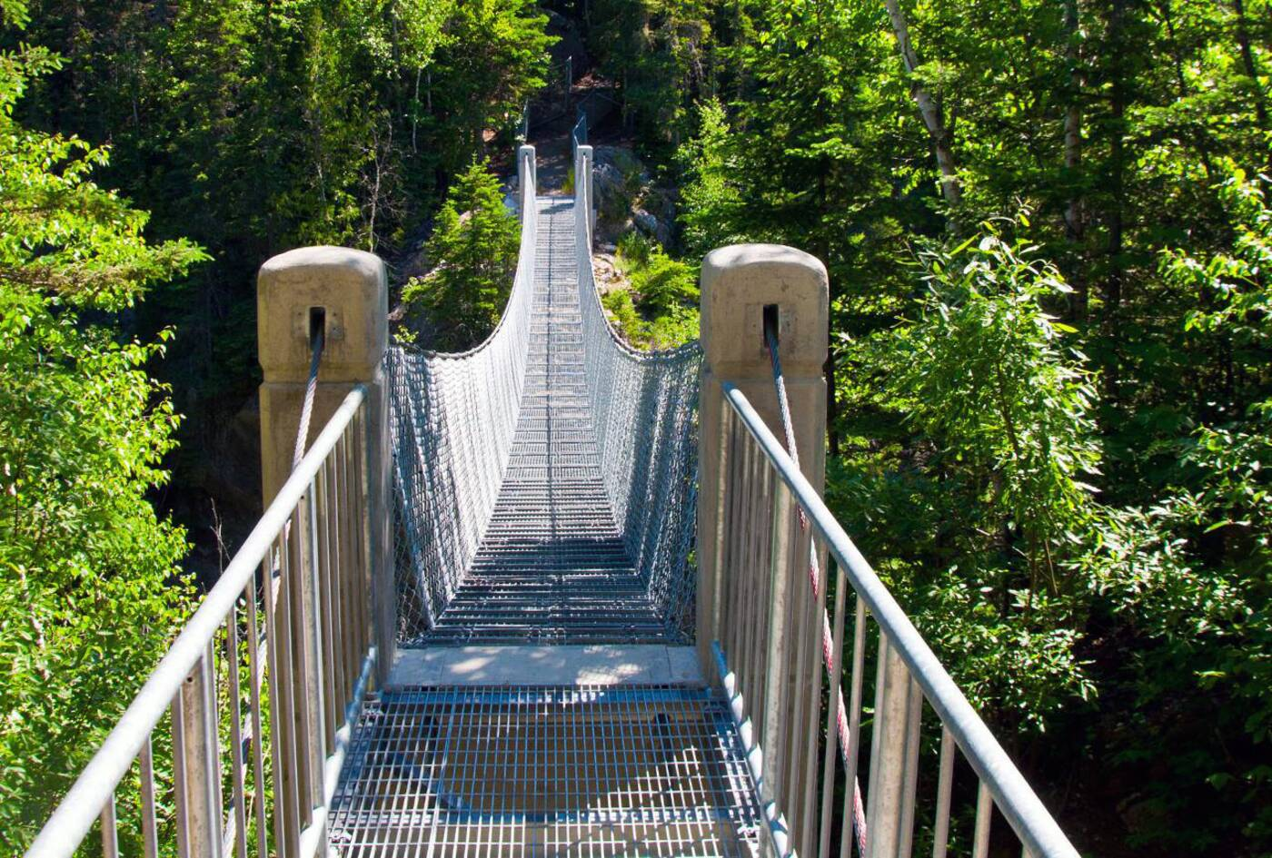 white river suspension bridge