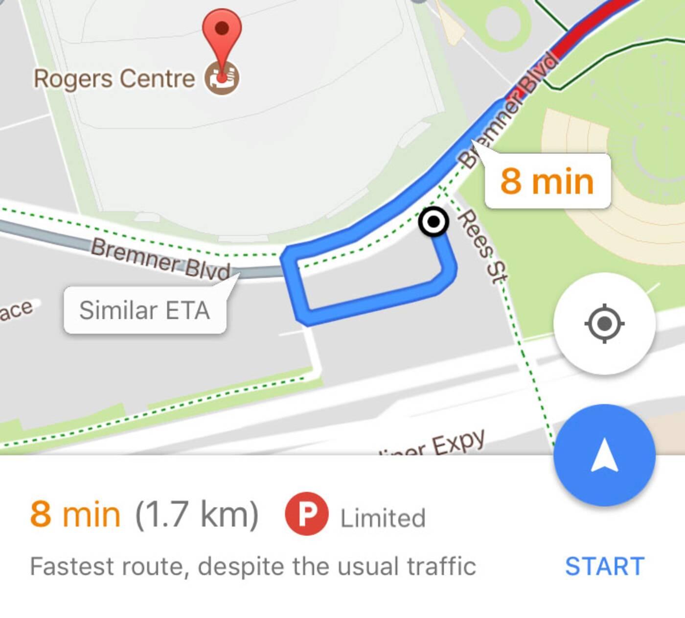toronto parking google