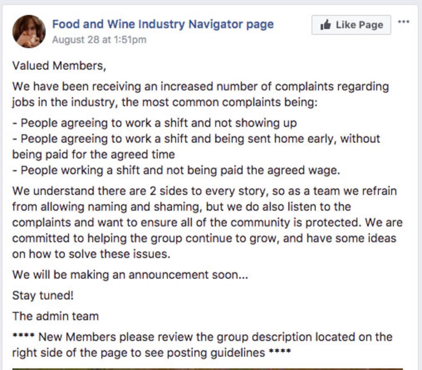 restaurant workers toronto