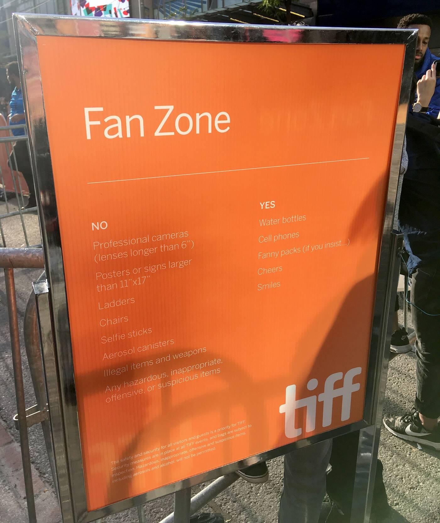 TIFF fan zone