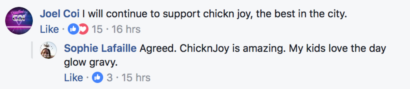 chick n joy,leslieville