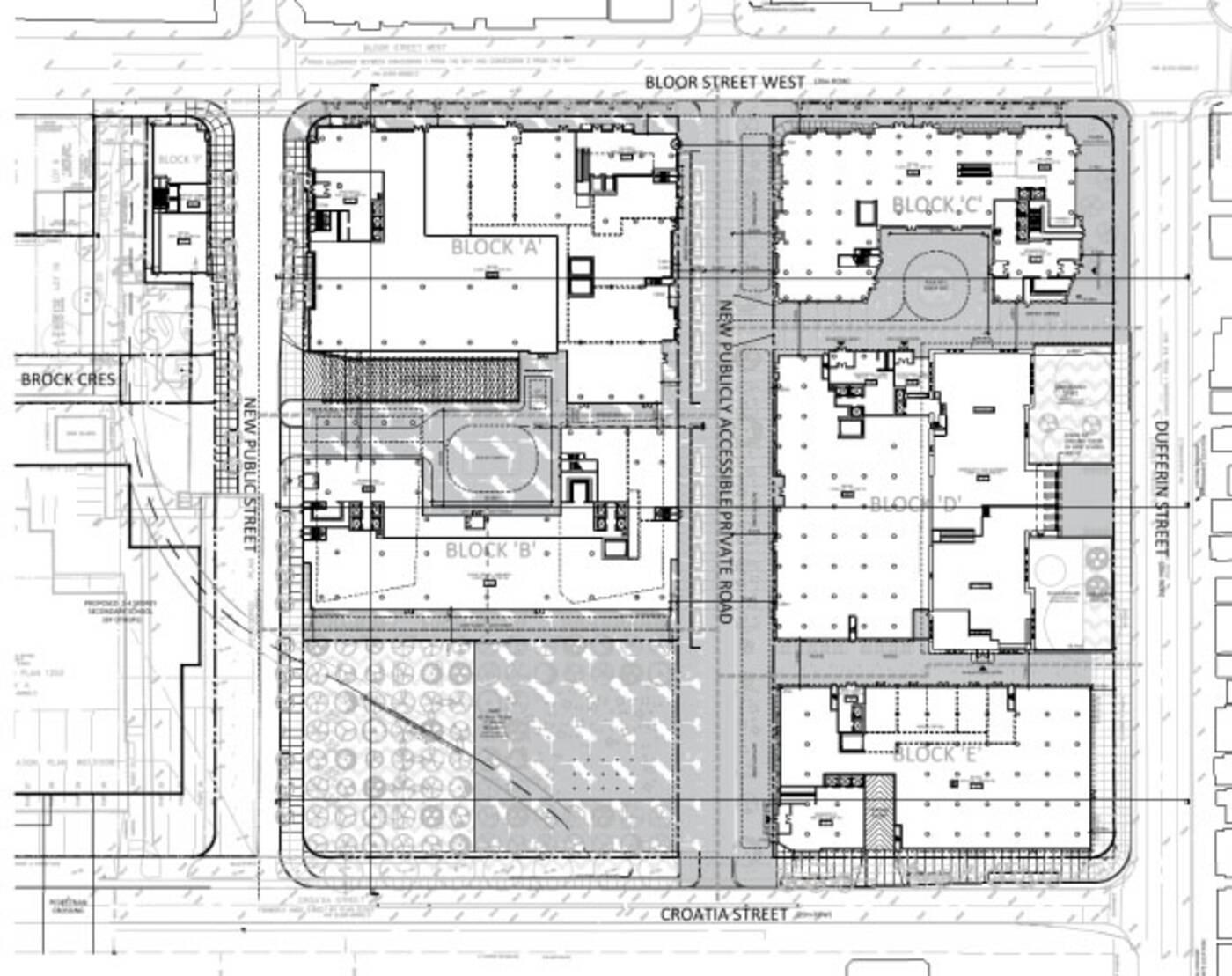 Bloor Dufferin layout