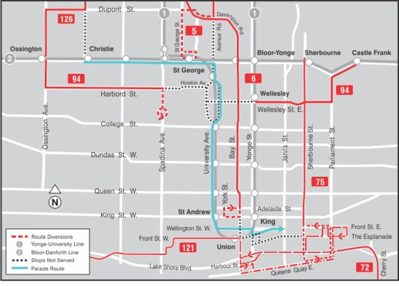 TTC Bus Routes
