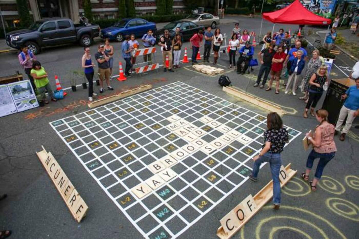 Seattle street Scrabble