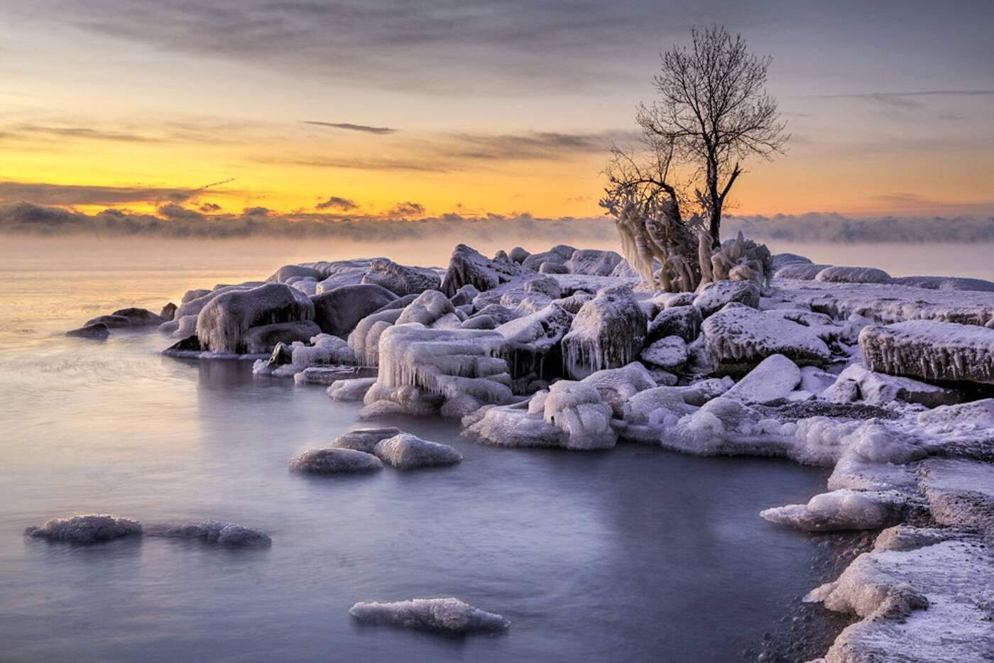 toronto waterfront frozen