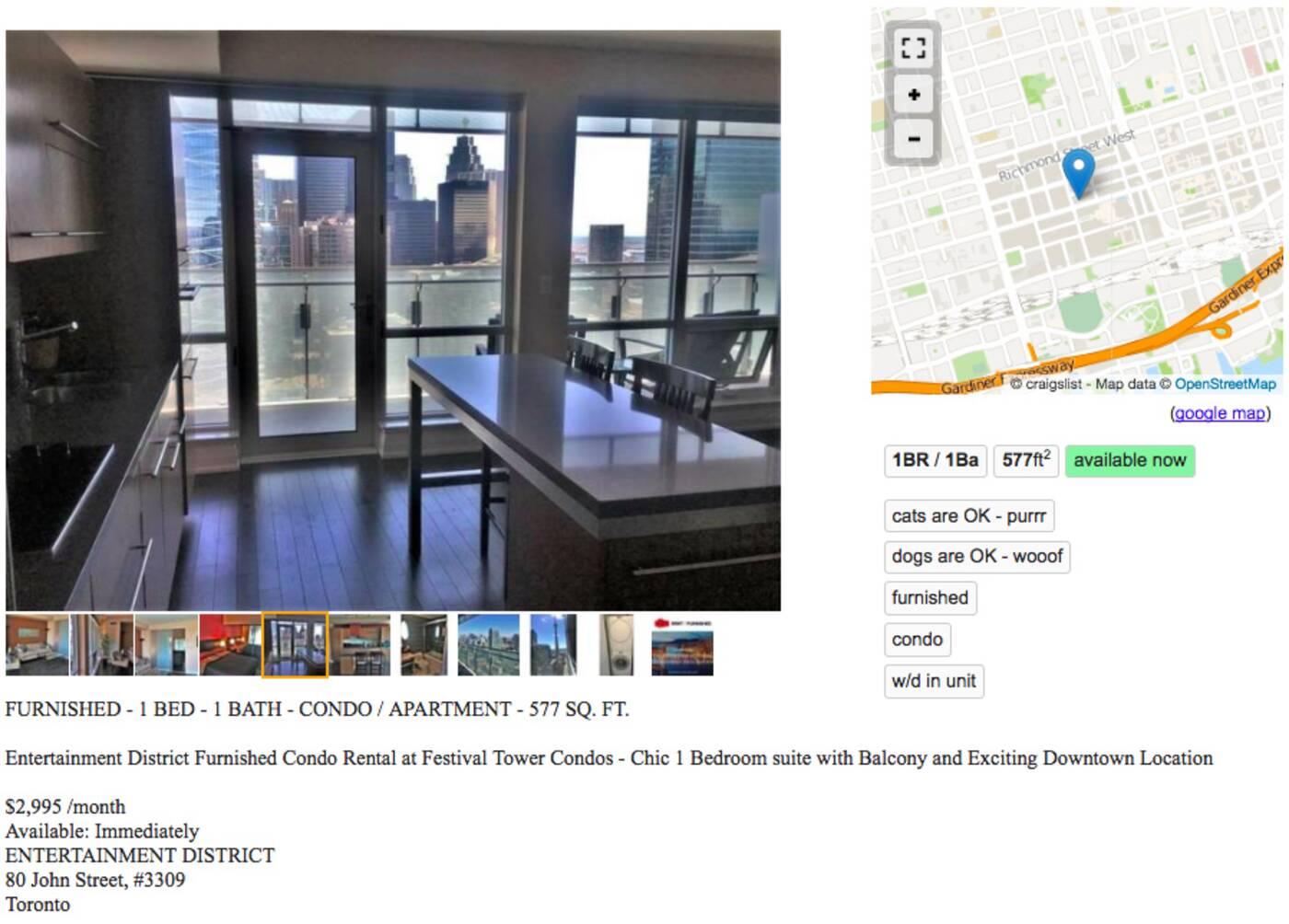 3000 dollar apartments