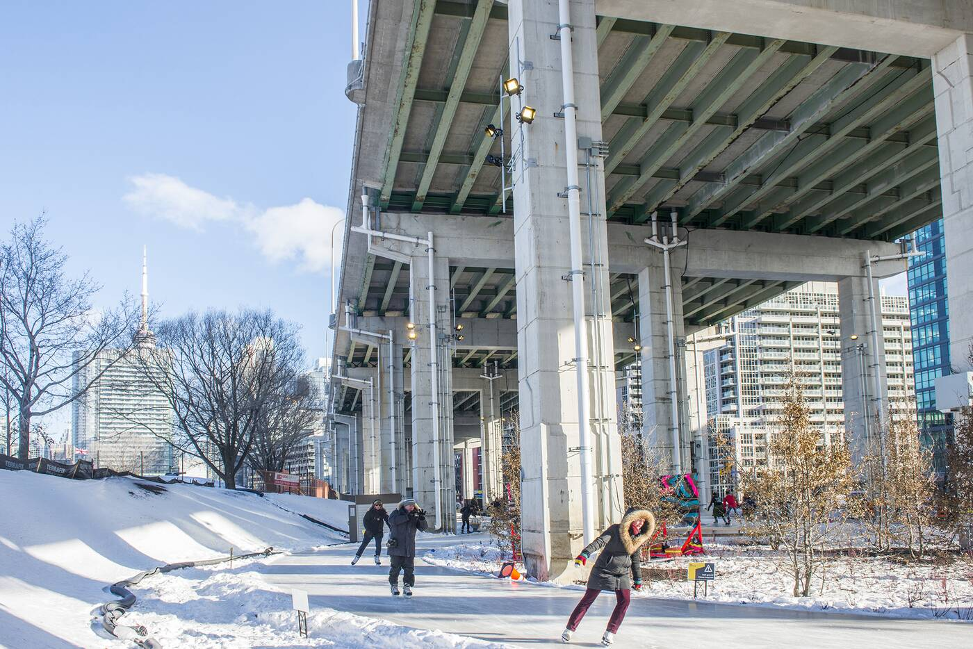 Bentway Skate Trail Toronto
