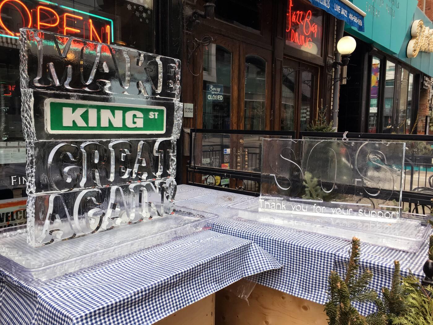 King Street ice