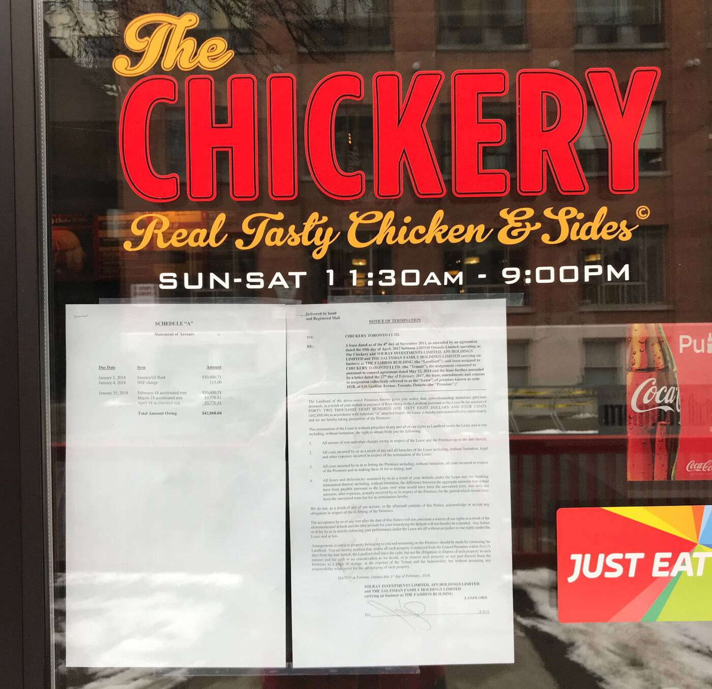 The Chickery closed
