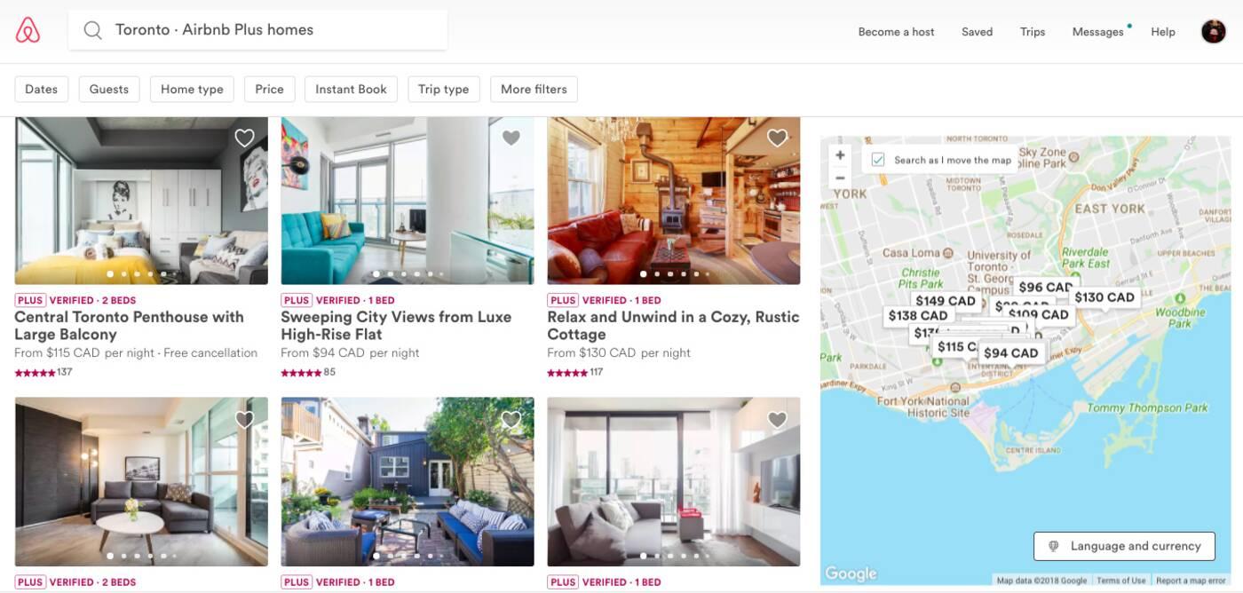 Airbnb Plus Toronto