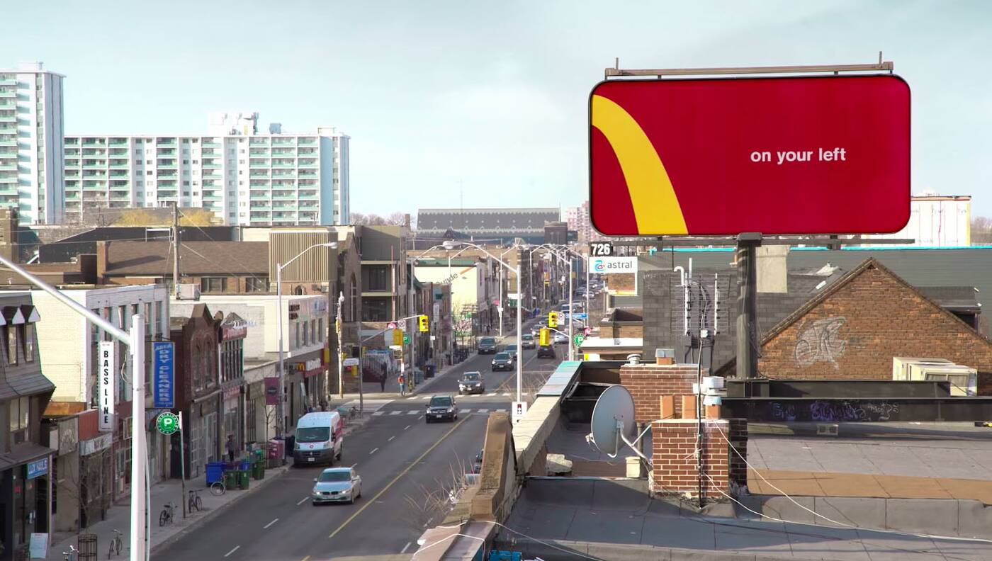 McDonalds Billboard Toronto