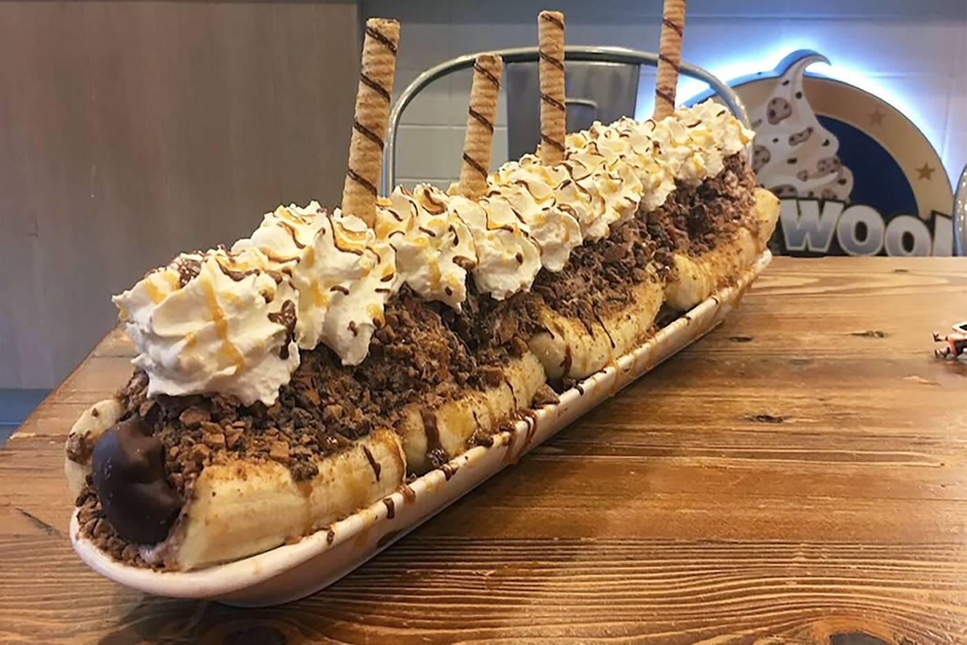 giant toronto foods pizza cone massive donut bakery lamanna hollywood eat banana split slice quality