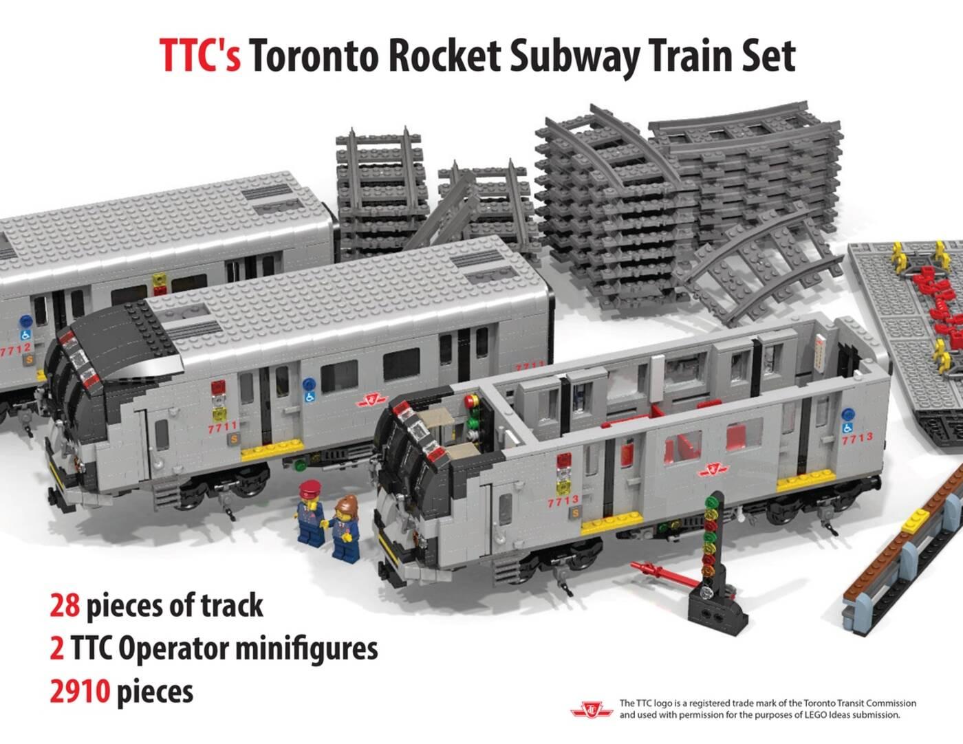 TTC subway lego