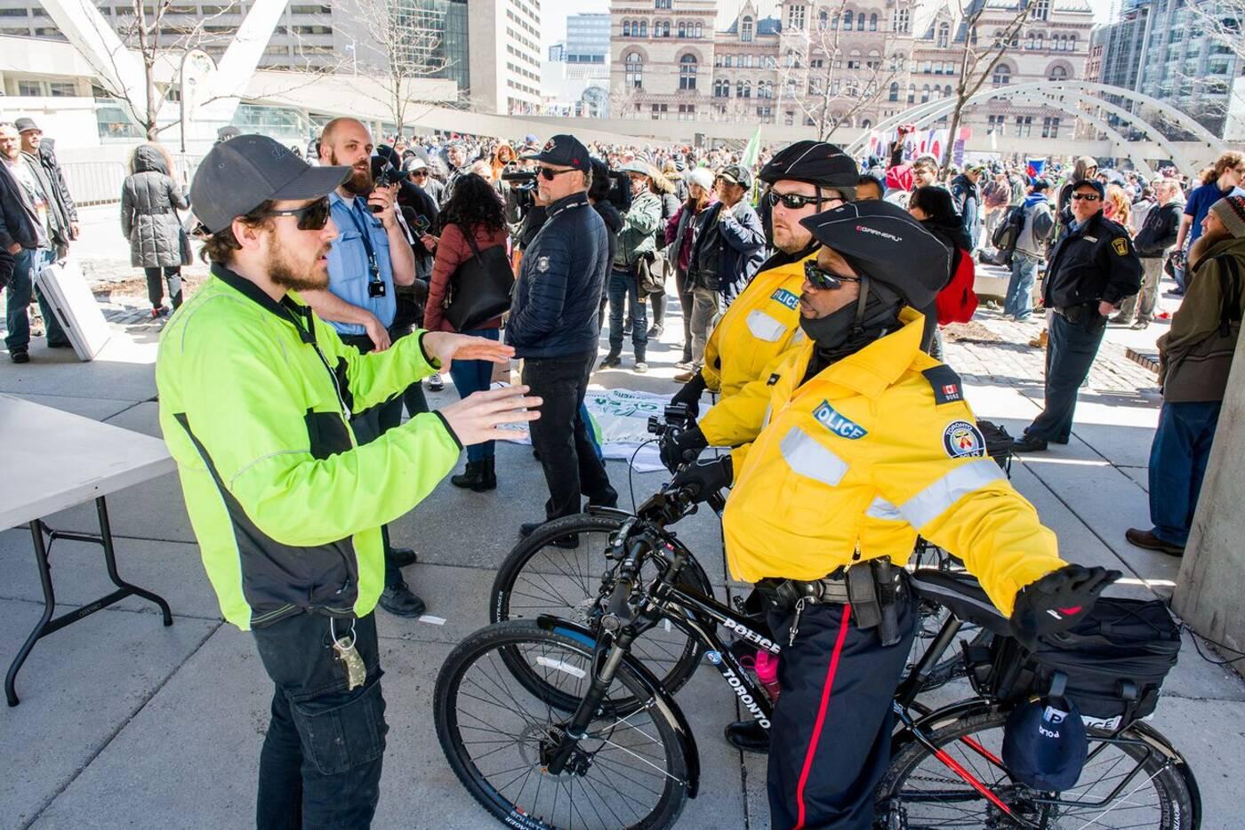 Toronto police put a damper on 420 festival outside City Hall