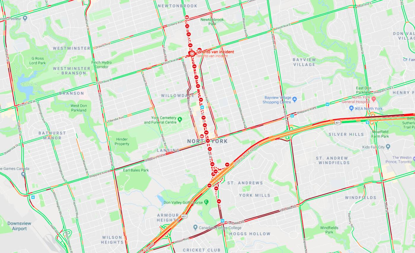 Toronto attack traffic