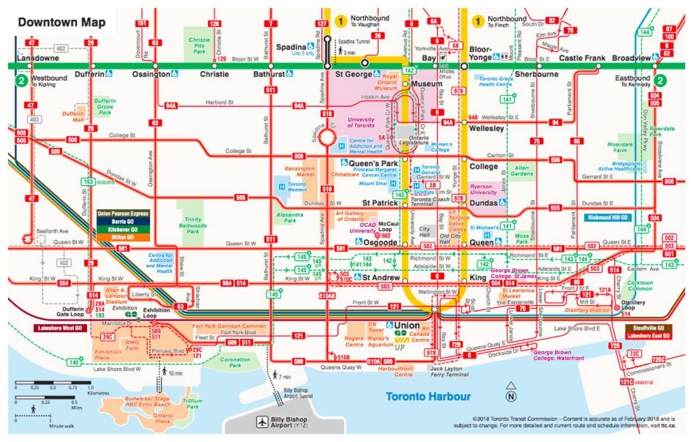 downtown toronto map