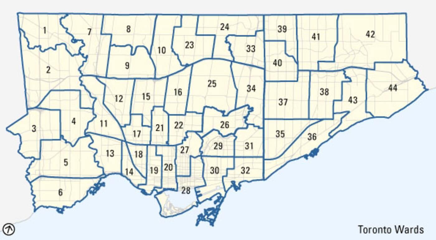 Toronto ward changes