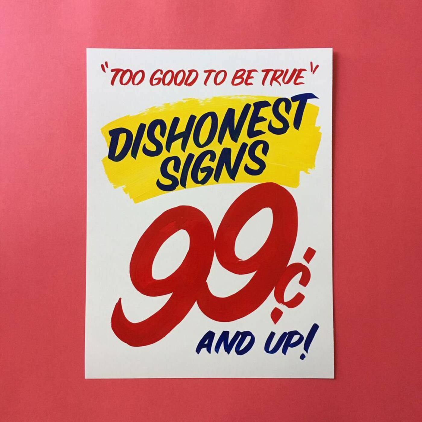 dishonest eds signs