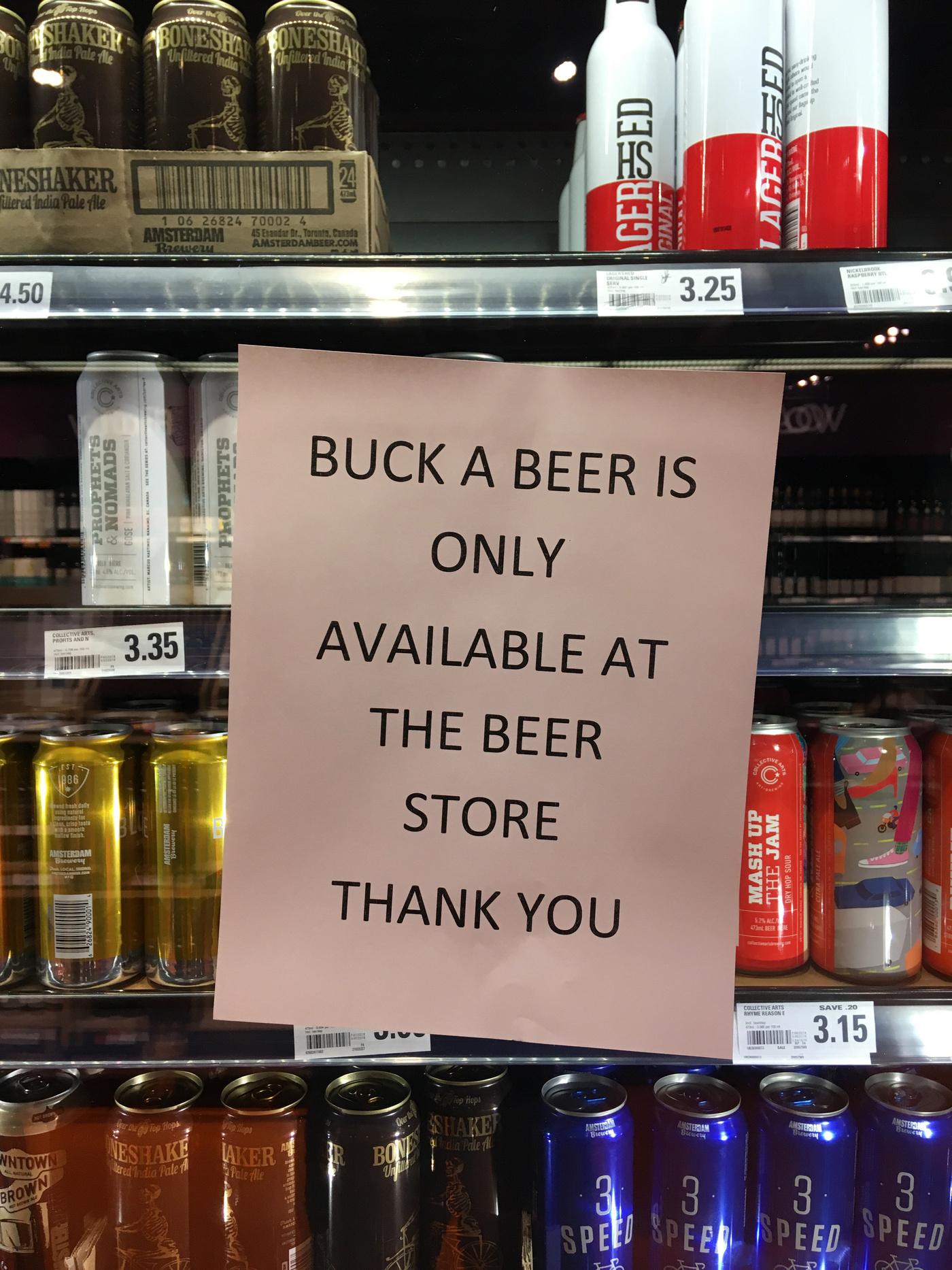 buck a beer loblaws