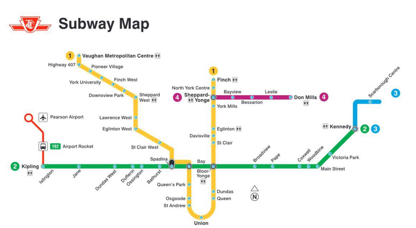 Ttc Subway Map 2025.Events In Toronto Someone Created A Ttc Subway Map With Only