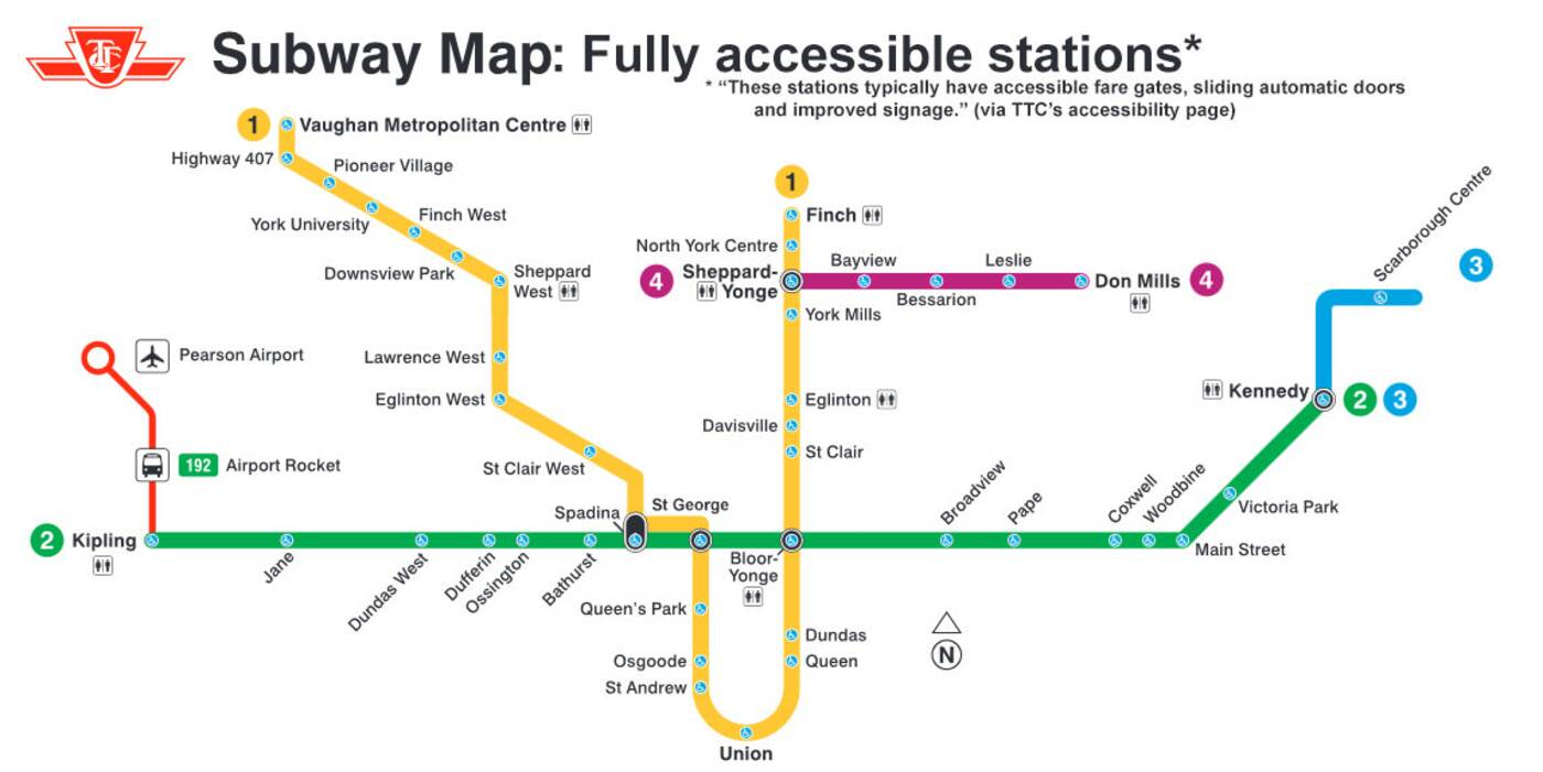ttc accesibility map