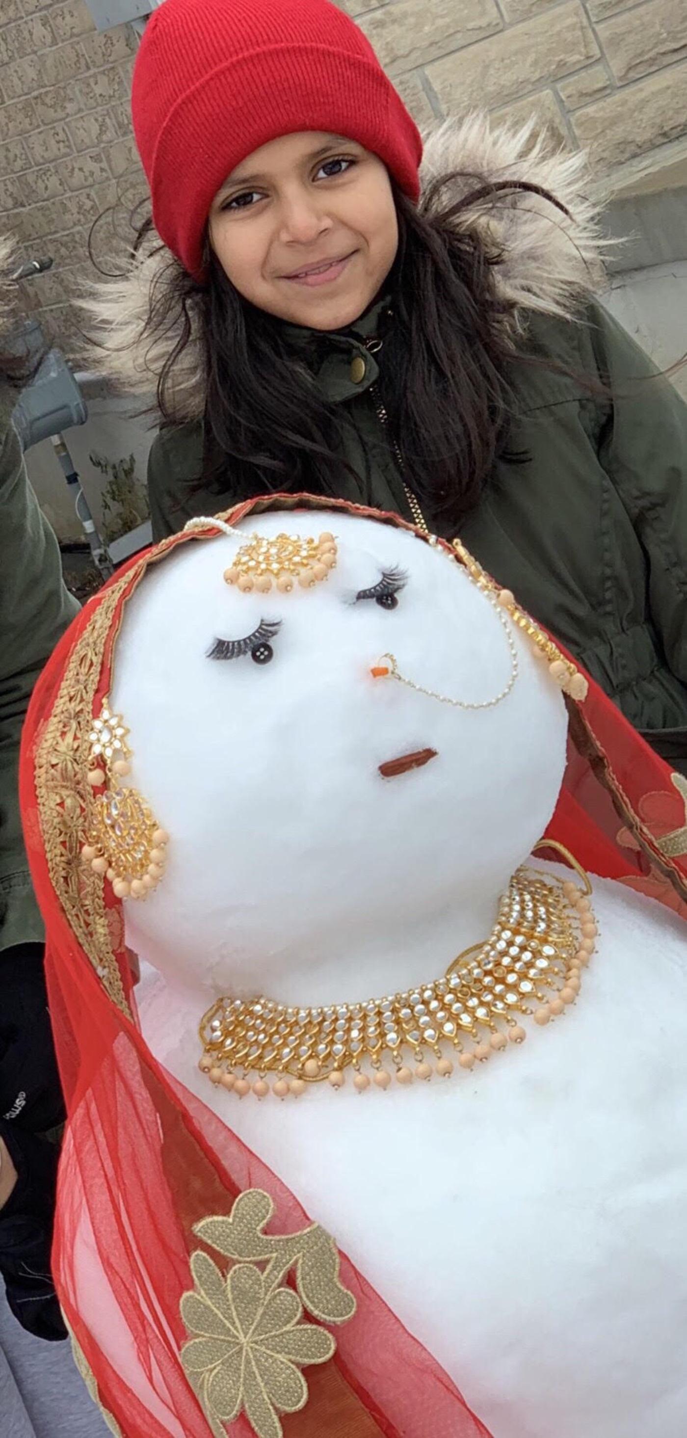 snow woman brampton