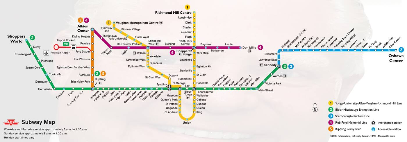 ttc subway suburbs