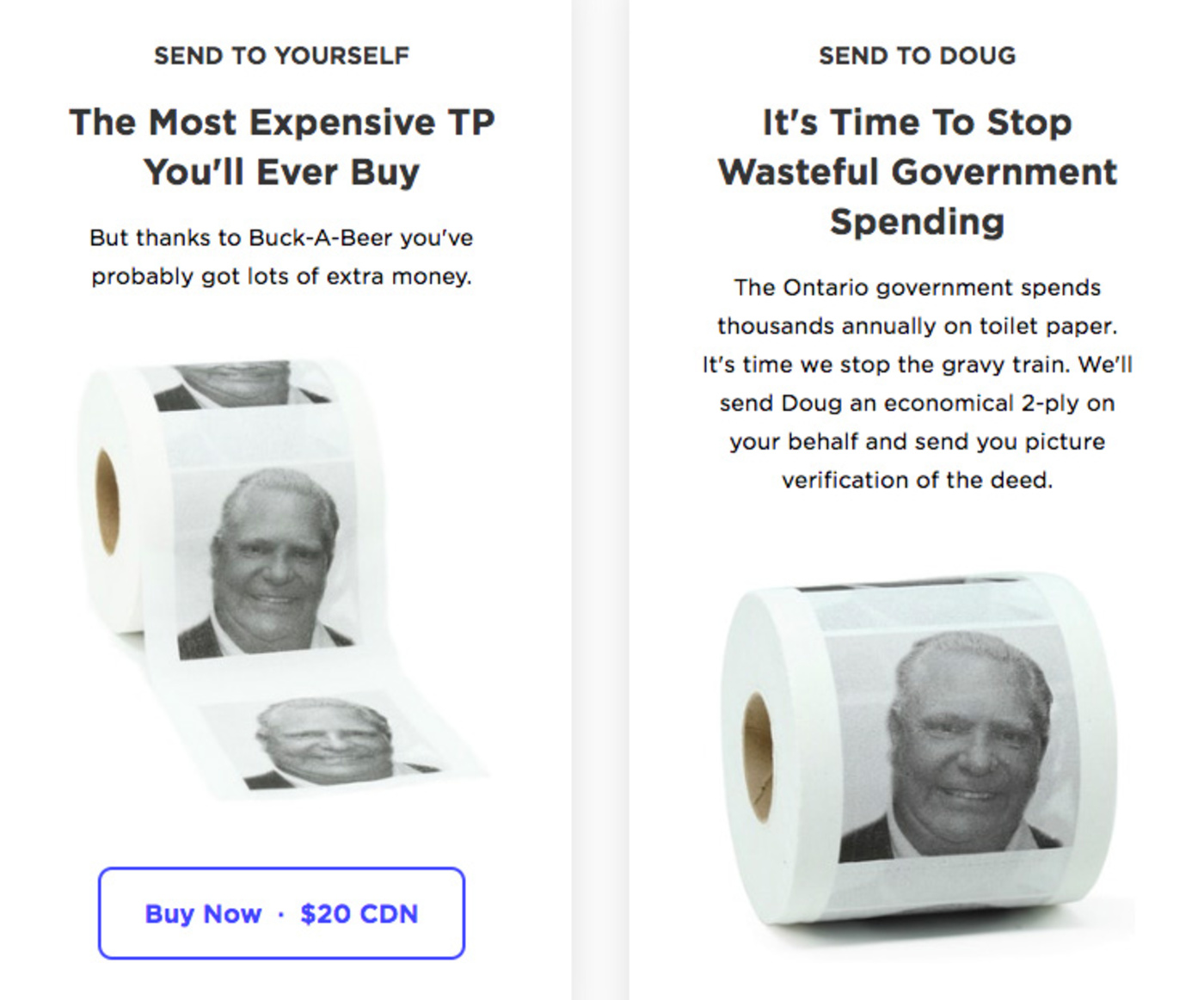 doug ford toilet paper