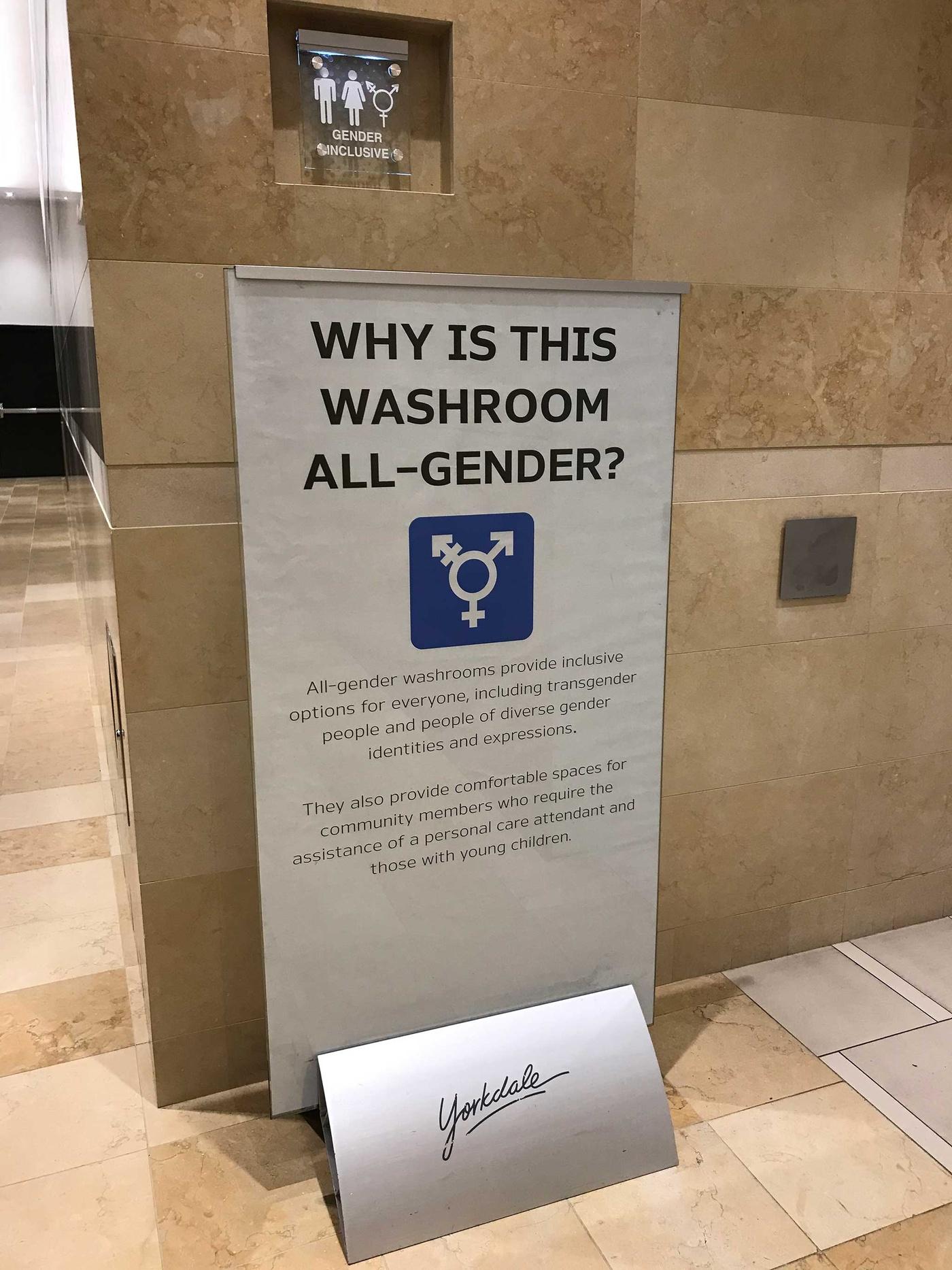 gender inclusive washroom
