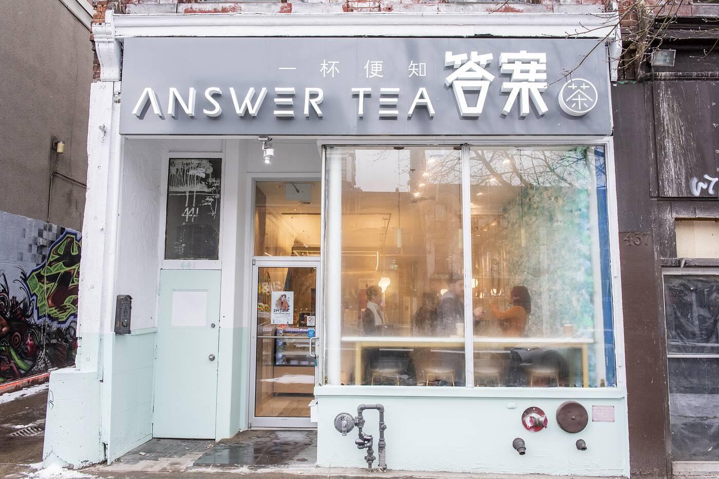 answer tea toronto