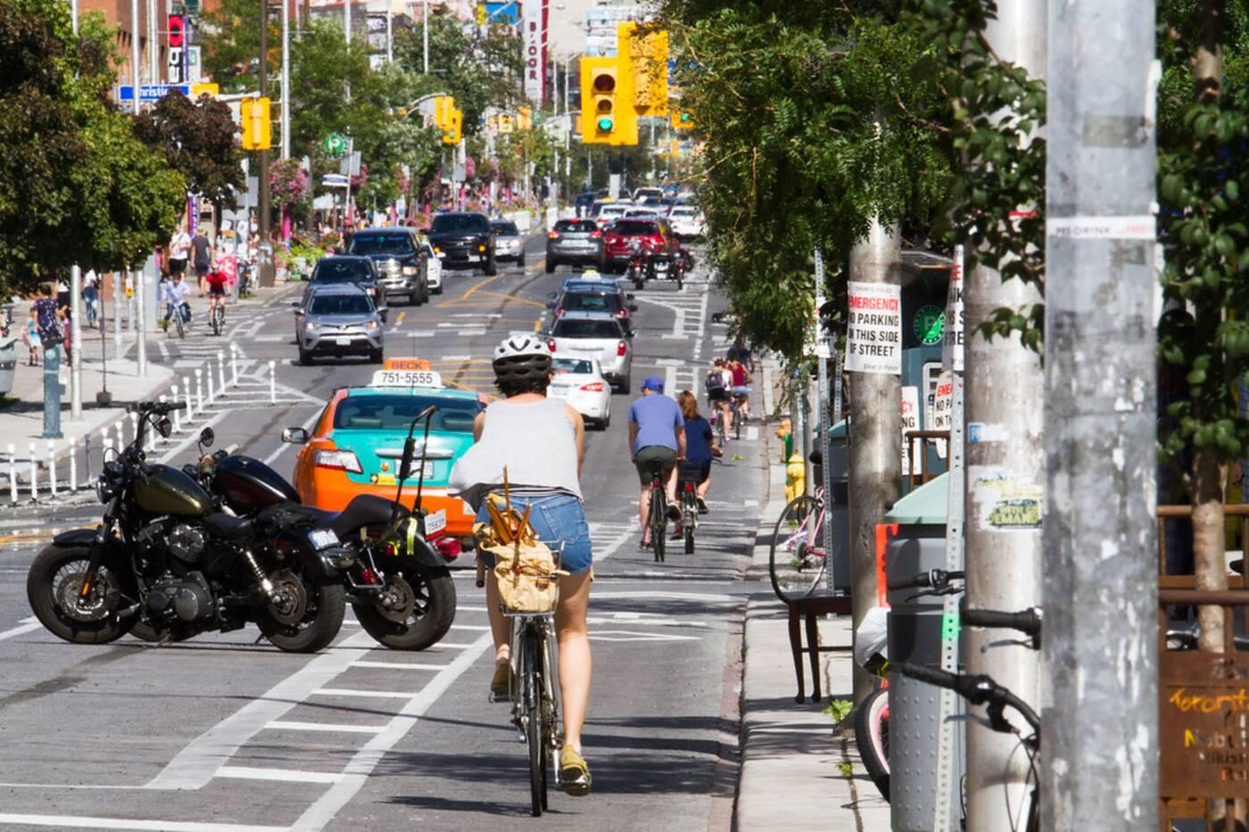 protected bike lanes toronto