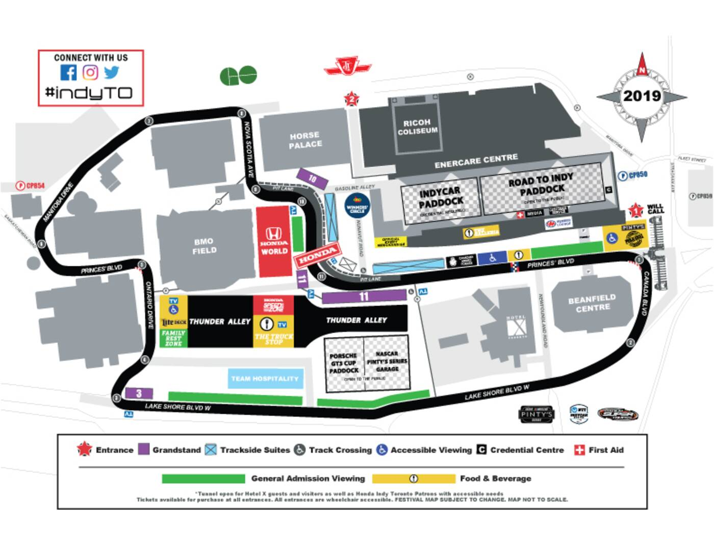 toronto honda indy road closures