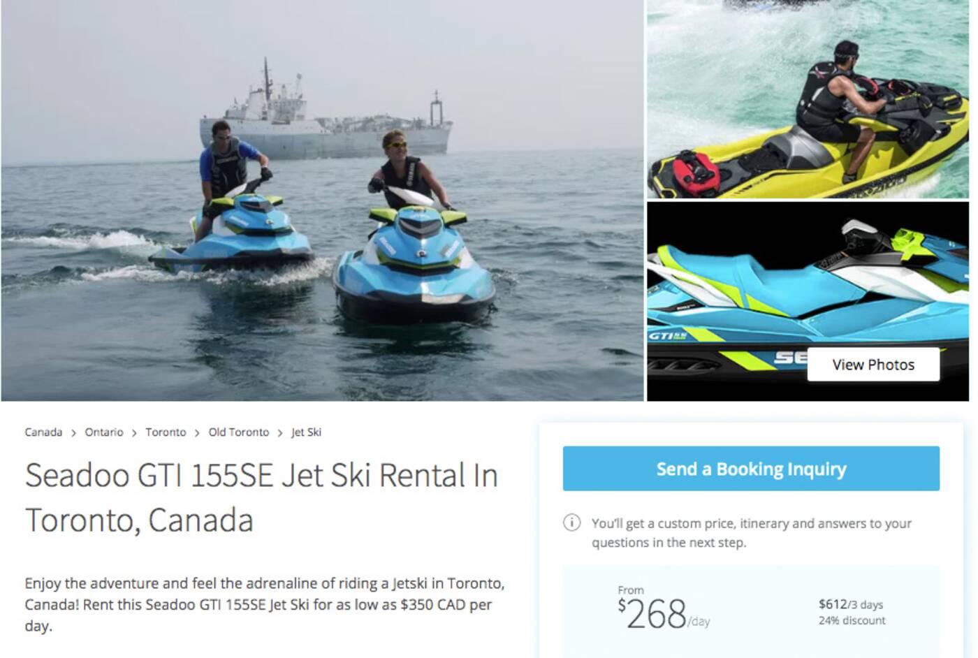 toronto boat rental