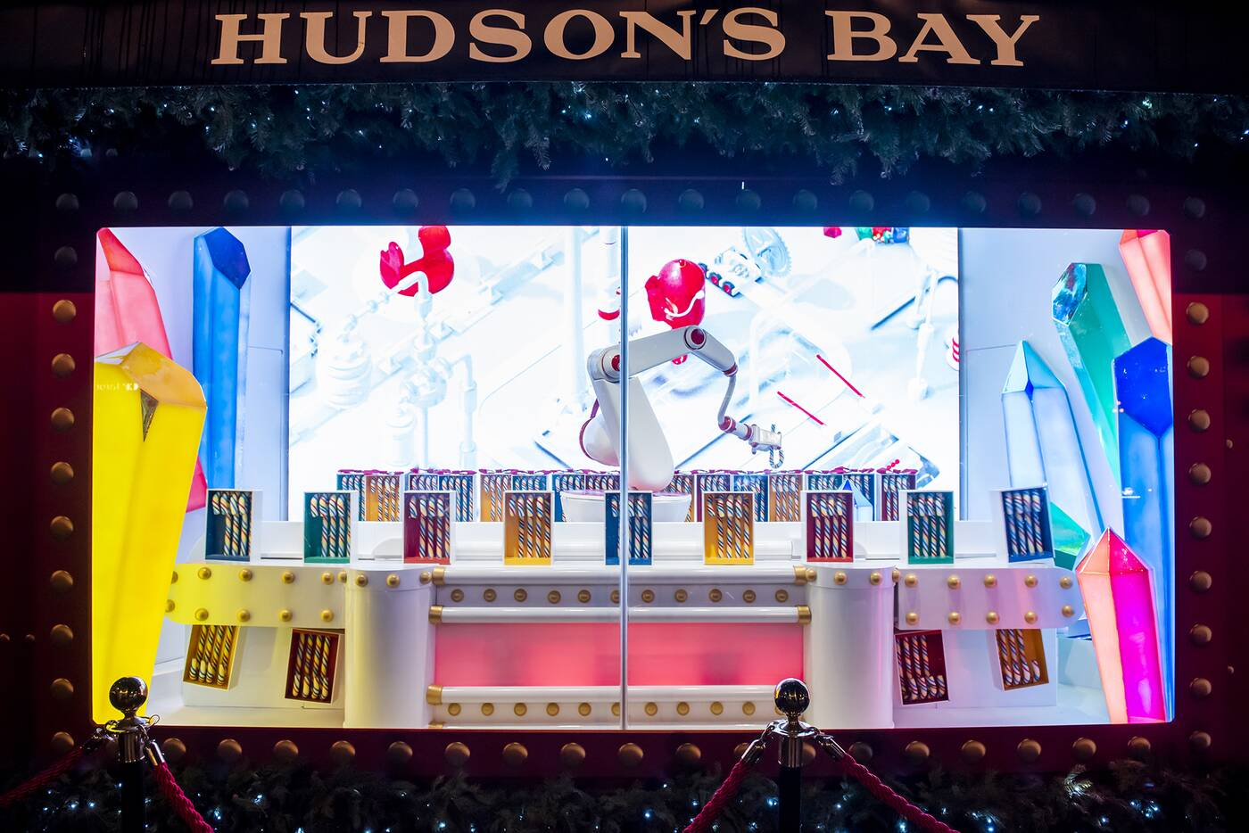 hudson bay window display toronto