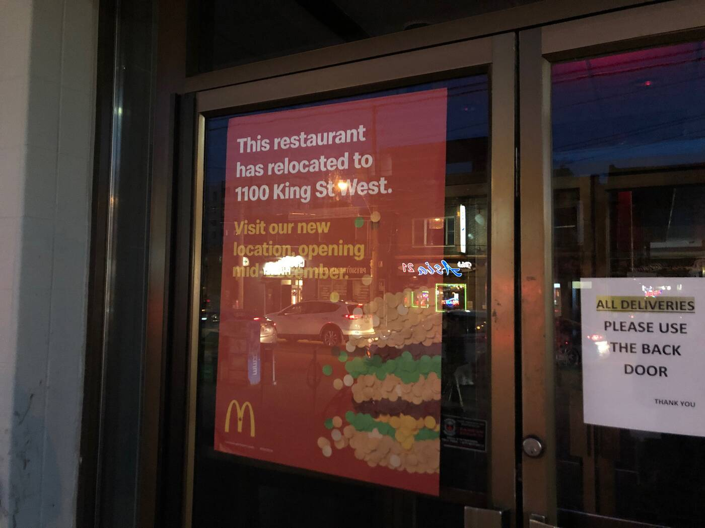 mcdonalds parkdale closed