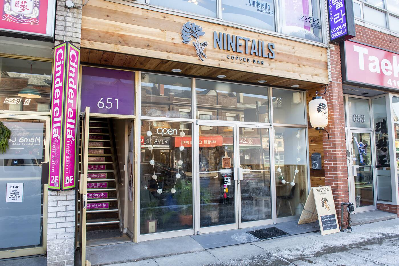 ninetails coffee shop toronto