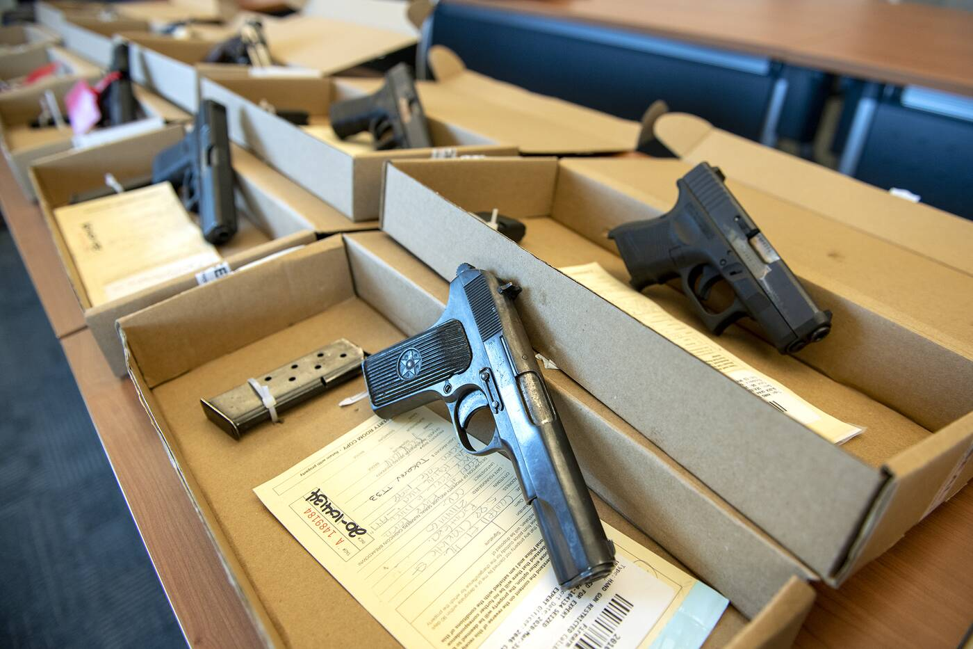 handguns seized by the york regional police