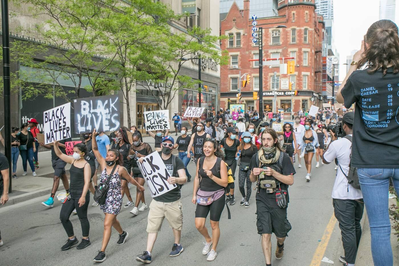 anti black racism protest toronto