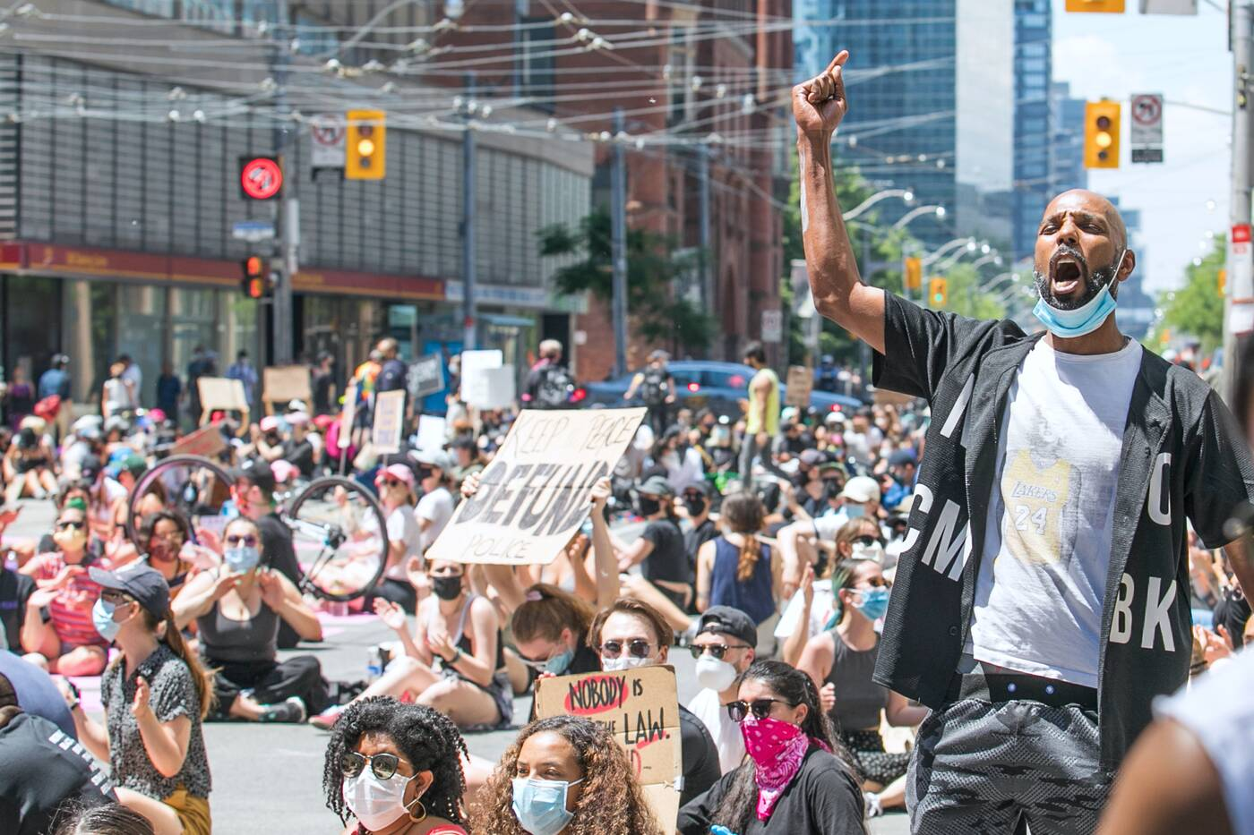 black lives matter toronto protest