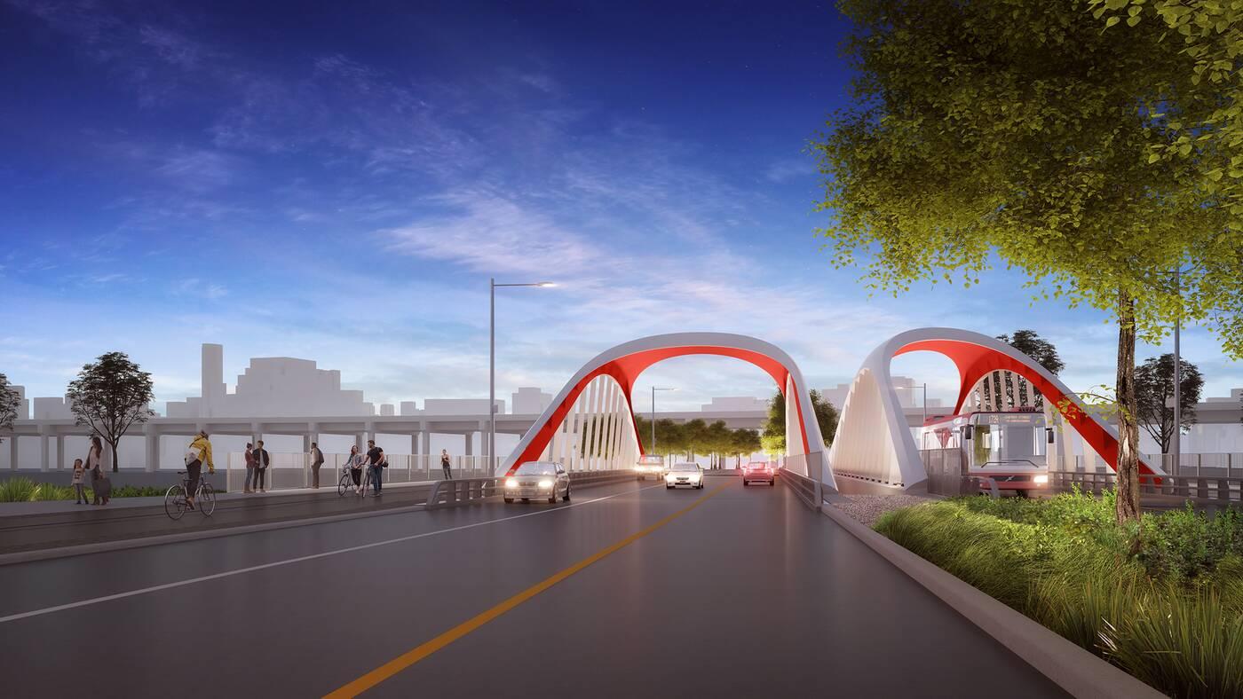 toronto port lands bridges