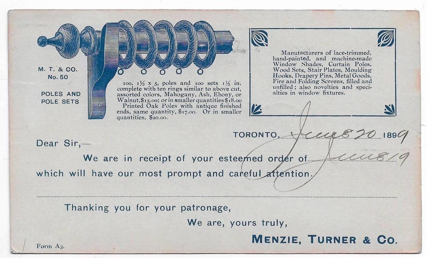 old postcard toronto