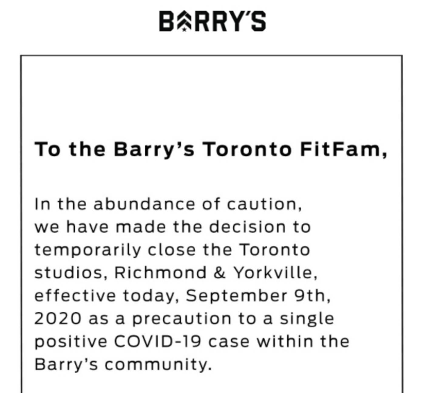 barry's toronto