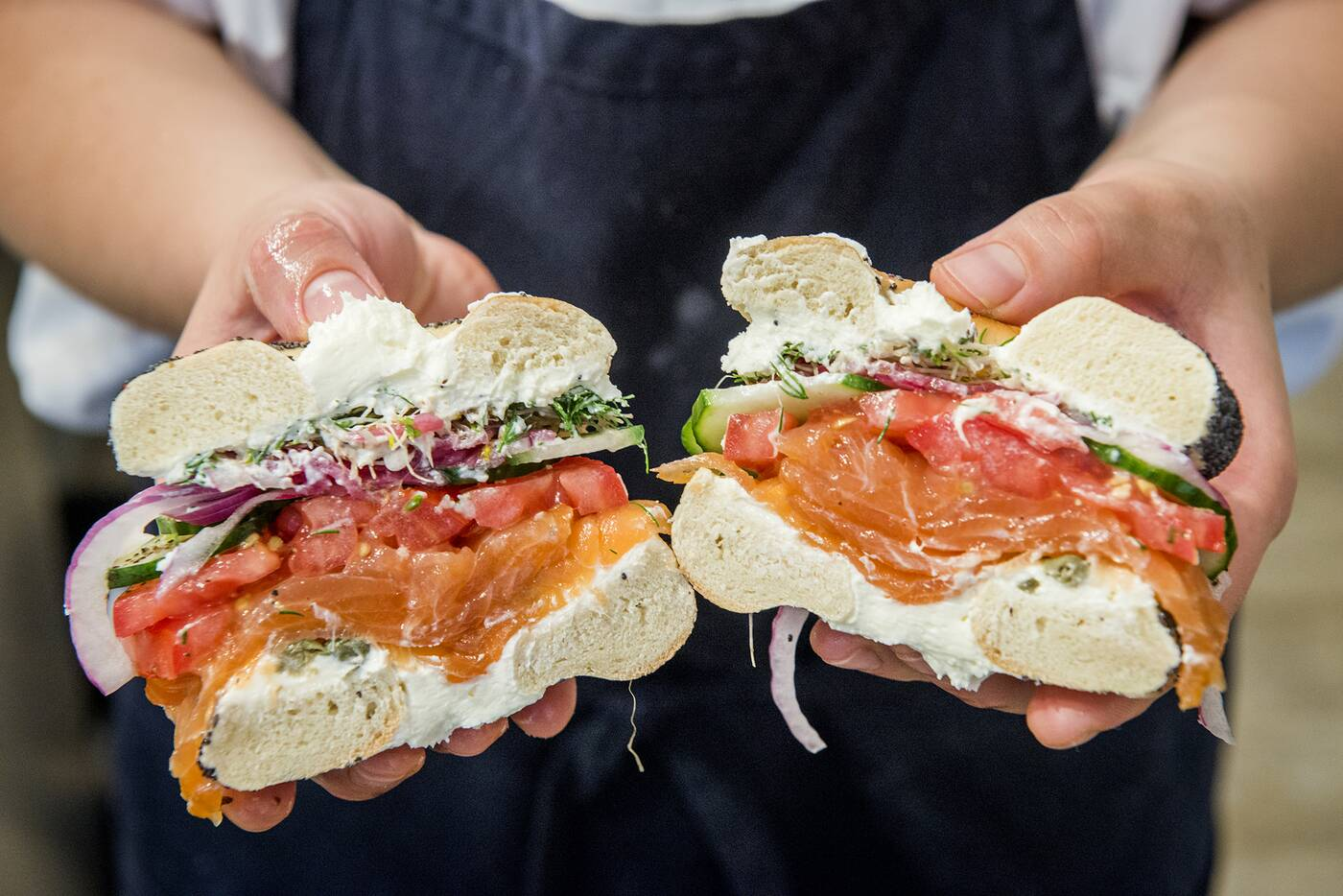 Smoked Salmon Bagel Toronto