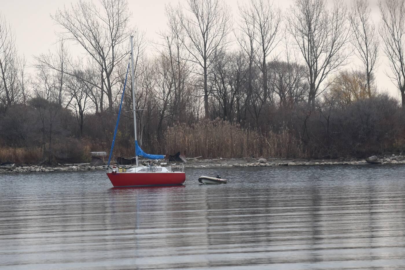 red sailboat humber bay toronto