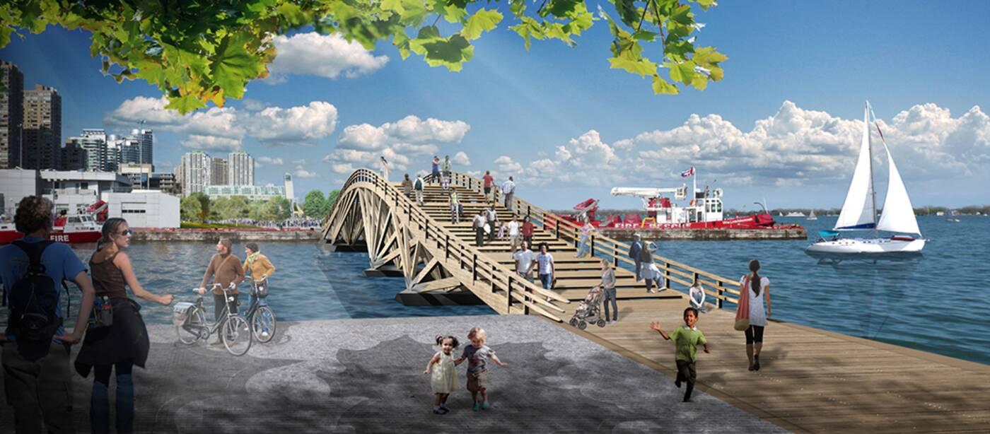 toronto harbour bridges
