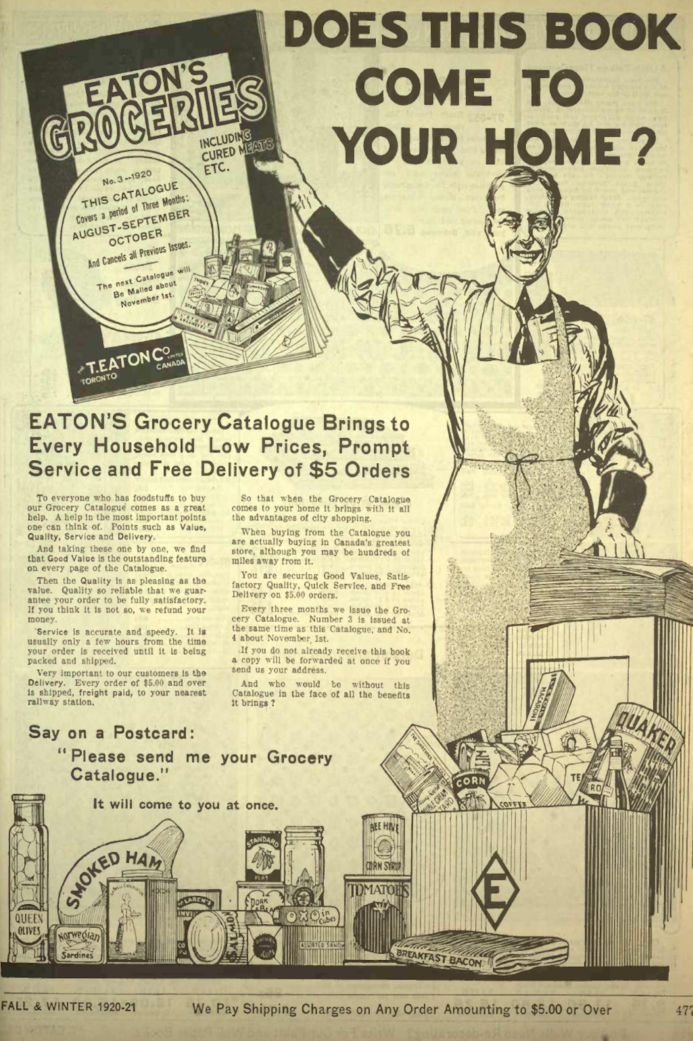 eatons catalogue history