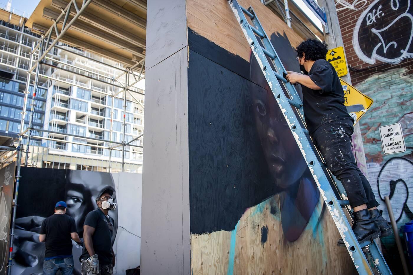 black lives matter murals toronto