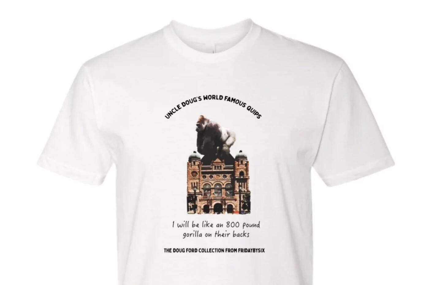 doug ford shirt toronto
